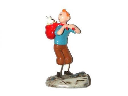 Tintin avec Milou dans son dos #