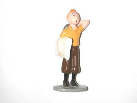 Tintin avec un journal #