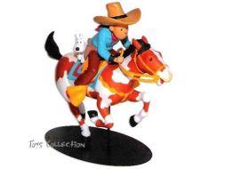 Tintin Cow Boy à cheval
