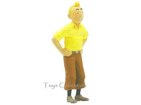 Tintin debout crabe chemise jaune