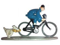 Tintin en vélo avec Milou
