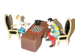 Tintin et Alcazar, la partie d'échecs #