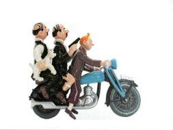Tintin et Duponts à moto #