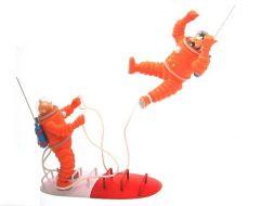 Tintin et Haddock fusée