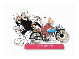 Tintin et les Dupontd en moto PM