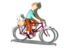 Tintin et Milou à vélo