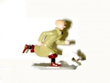Tintin et Milou courant #