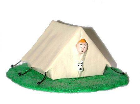 Tintin et Milou dans la tente #