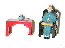 Tintin et Milou prenant le thé #