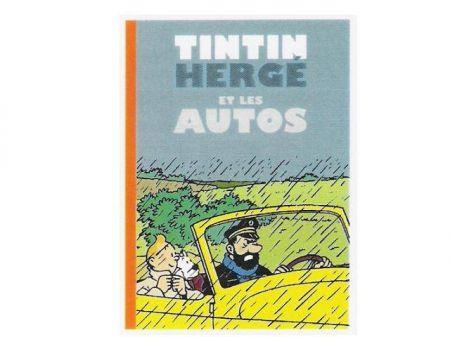Tintin Hergé les autos