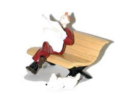 Tintin, Milou sur le banc #