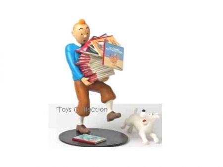 Tintin portant les albums 1